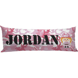 Pink Camo Body Pillow Case (Personalized)
