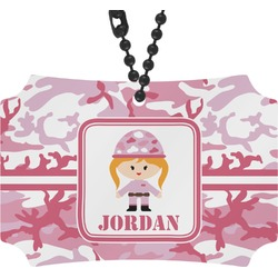 Pink Camo Rear View Mirror Ornament (Personalized)