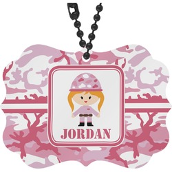 Pink Camo Rear View Mirror Decor (Personalized)