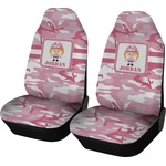 Pink Camo Car Seat Covers (Set of Two) (Personalized)