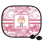 Pink Camo Car Side Window Sun Shade (Personalized)