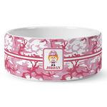 Pink Camo Ceramic Dog Bowl (Personalized)