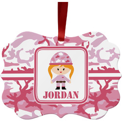 Pink Camo Ornament (Personalized)
