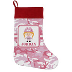 Pink Camo Holiday Stocking w/ Name or Text