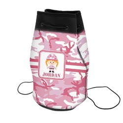Pink Camo Neoprene Drawstring Backpack (Personalized)