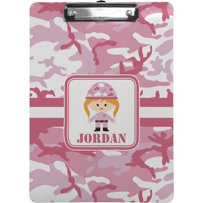 Pink Camo Clipboard (Personalized)