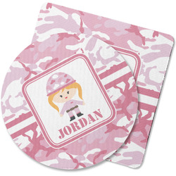 Pink Camo Rubber Backed Coaster (Personalized)
