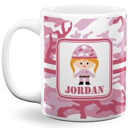Pink Camo 11 Oz Coffee Mug - White (Personalized)