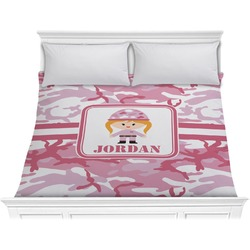 Pink Camo Comforter - King (Personalized)