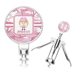 Pink Camo Corkscrew (Personalized)