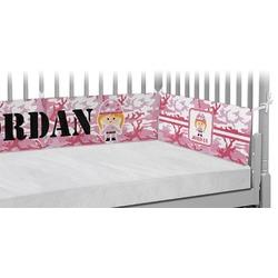 Pink Camo Crib Bumper Pads (Personalized)