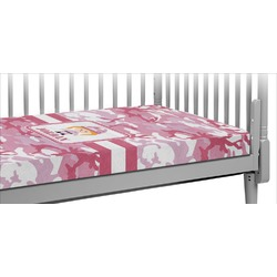 Pink Camo Crib Fitted Sheet (Personalized)