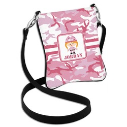 Pink Camo Cross Body Bag - 2 Sizes (Personalized)