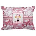 "Pink Camo Decorative Baby Pillowcase - 16""x12"" (Personalized)"