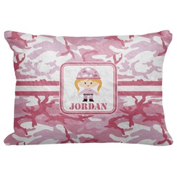 "Pink Camo Decorative Baby Pillowcase - 16""x12"" (Personalized)"