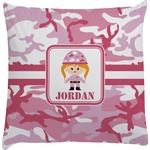 Pink Camo Decorative Pillow Case (Personalized)