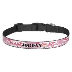 Pink Camo Dog Collar - Medium (Personalized)