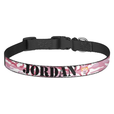 Personalized Pink Camo Dog Collars