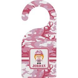 Pink Camo Door Hanger (Personalized)