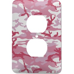 Pink Camo Electric Outlet Plate (Personalized)
