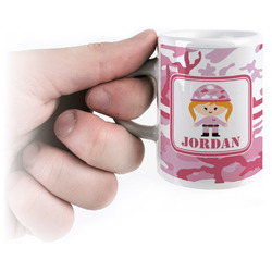Pink Camo Espresso Cups (Personalized)