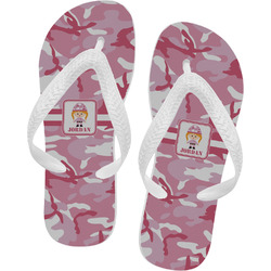 Pink Camo Flip Flops (Personalized)