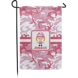 Pink Camo Garden Flag - Single or Double Sided (Personalized)