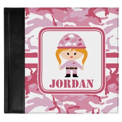 Pink Camo Genuine Leather Baby Memory Book (Personalized)