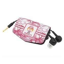 Pink Camo Genuine Leather Cord Wrap (Personalized)