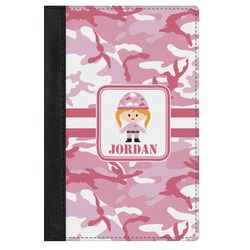 Pink Camo Genuine Leather Passport Cover (Personalized)