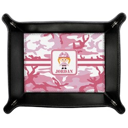 Pink Camo Genuine Leather Valet Tray (Personalized)
