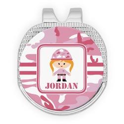 Pink Camo Golf Ball Marker - Hat Clip