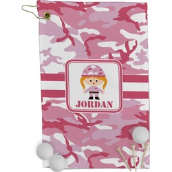 Pink Camo Golf Towel - Full Print (Personalized)