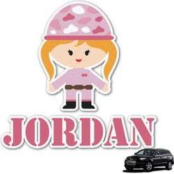 Pink Camo Graphic Car Decal (Personalized)
