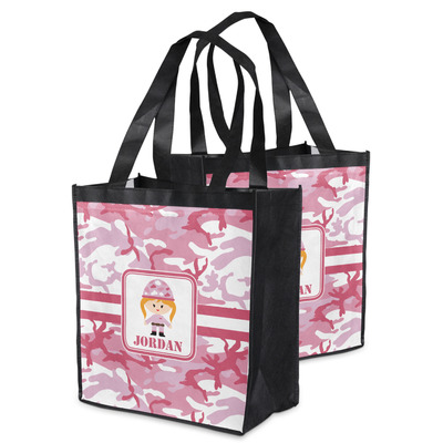Pink Camo Grocery Bag (Personalized)