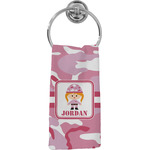Pink Camo Hand Towel - Full Print (Personalized)