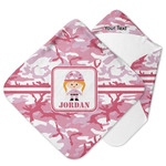Pink Camo Hooded Baby Towel (Personalized)