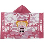 Pink Camo Kids Hooded Towel (Personalized)