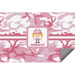 Pink Camo Indoor / Outdoor Rug (Personalized)