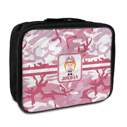 Pink Camo Insulated Lunch Bag (Personalized)
