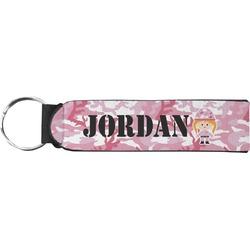 Pink Camo Neoprene Keychain Fob (Personalized)