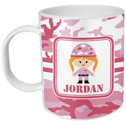 Pink Camo Plastic Kids Mug (Personalized)