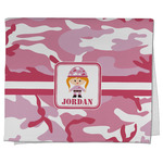 Pink Camo Kitchen Towel - Full Print (Personalized)