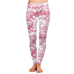 Pink Camo Ladies Leggings (Personalized)