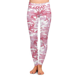 Pink Camo Ladies Leggings - Large (Personalized)
