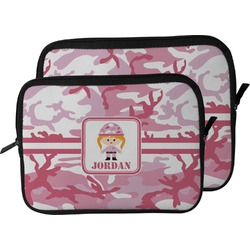 Pink Camo Laptop Sleeve / Case (Personalized)