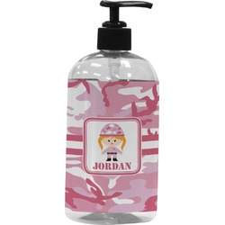 Pink Camo Plastic Soap / Lotion Dispenser (Personalized)