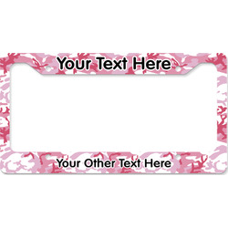 Pink Camo License Plate Frame - Style B (Personalized)