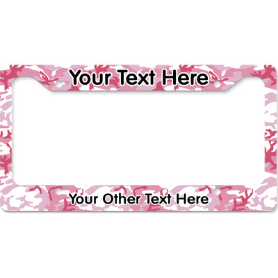 Pink Camo License Plate Frame (Personalized)