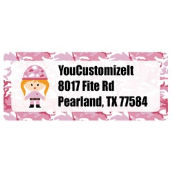 Pink Camo Return Address Labels (Personalized)
